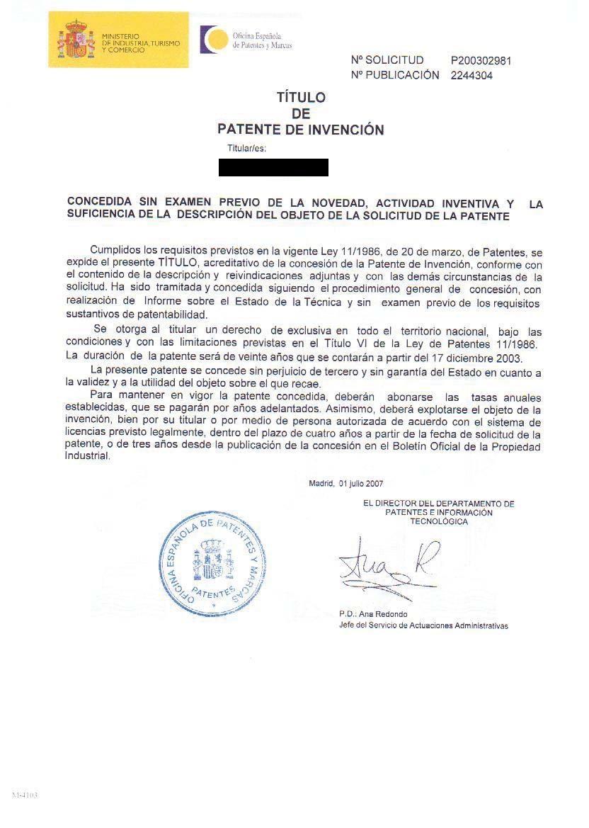 Patente española