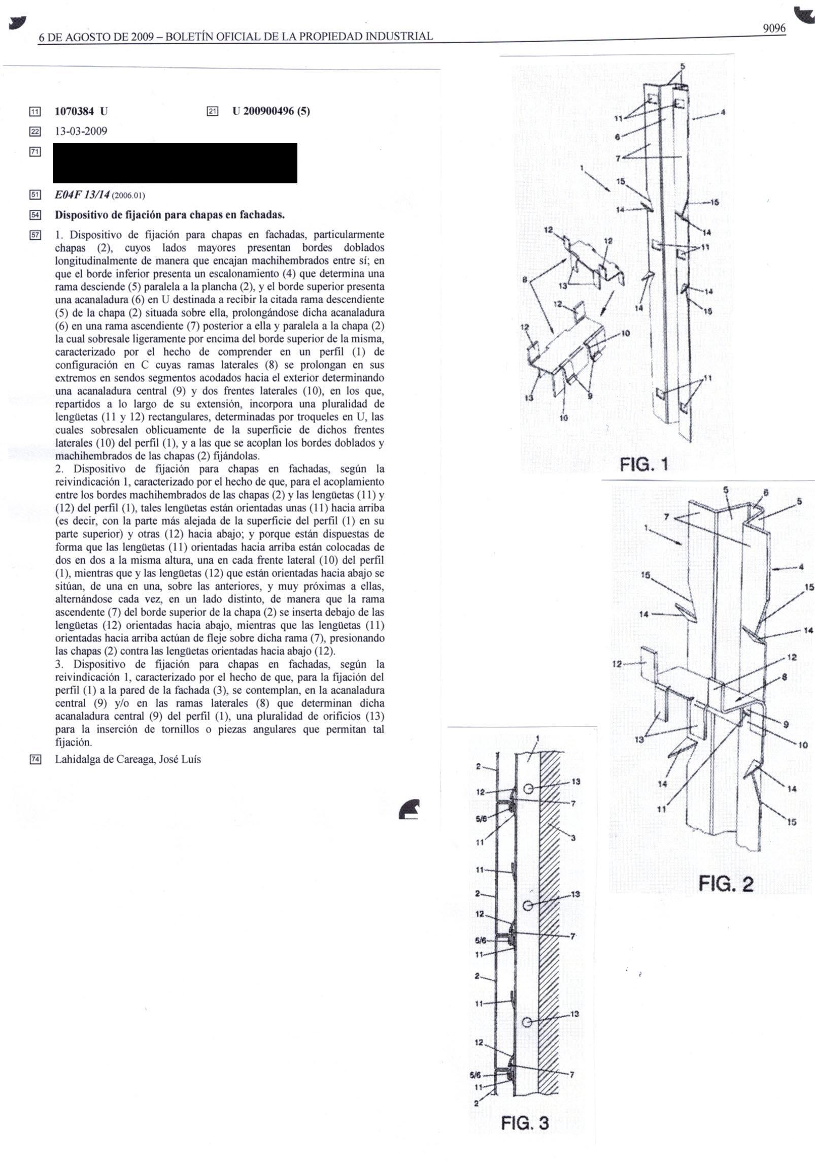 Registro modelo de utilidad Madrid